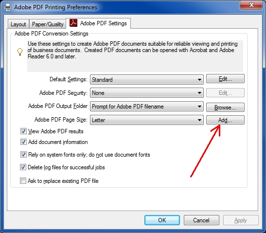 Adobe PDF Settings