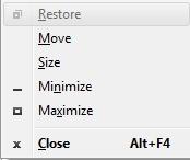 Alt-Spacebar menu