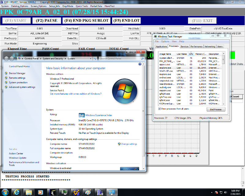 Slower run time, newer PC, Windows 7