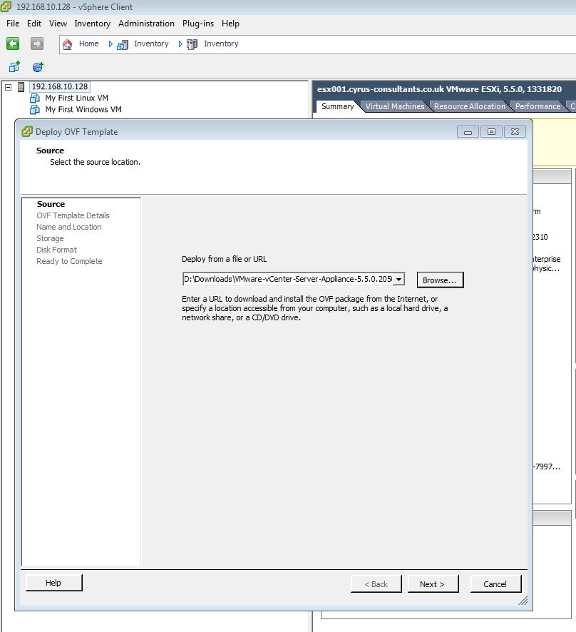 HOW TO: Install and Configure the VMware vSphere vCenter Server