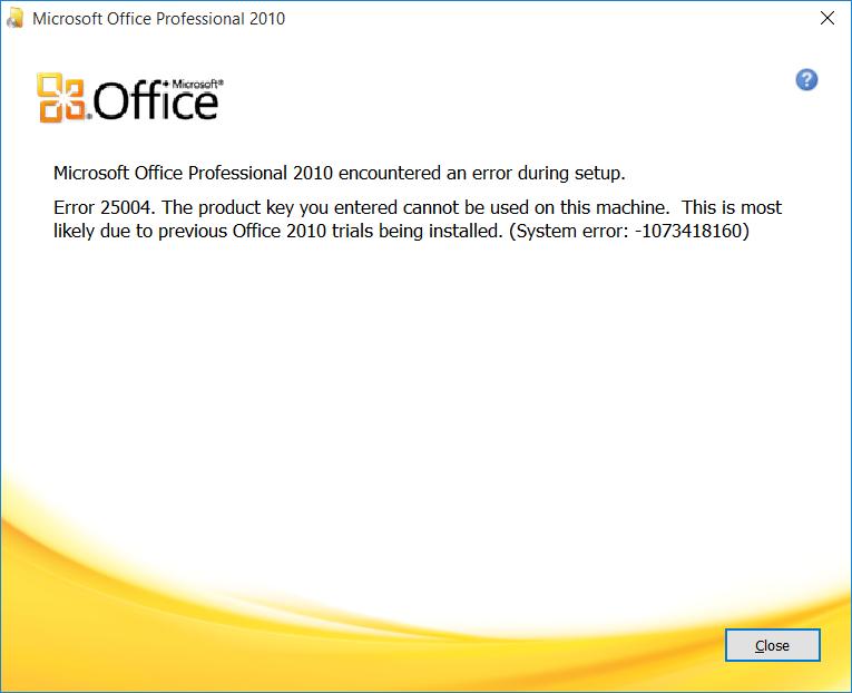 Office error