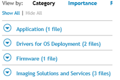 Dell Driver categories