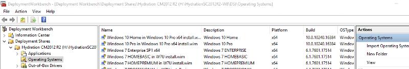 Windows 10 in MDT
