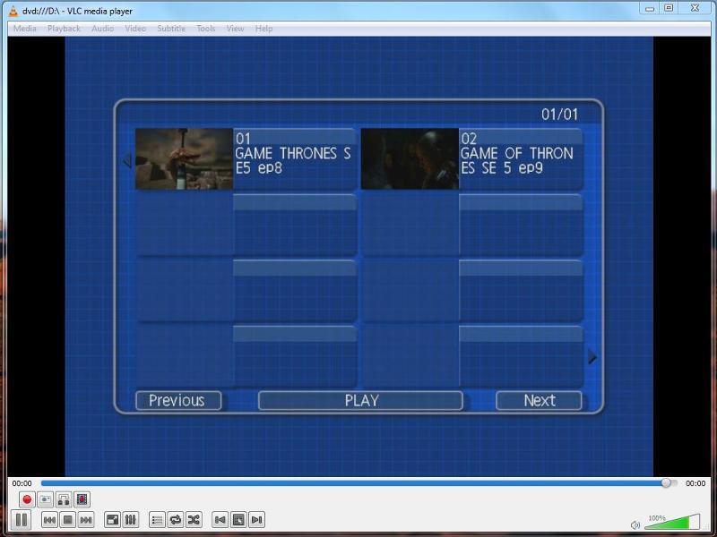 DVD Menu from Panasonic