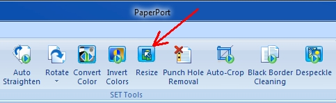 PaperPort Resize