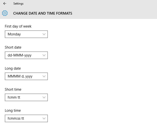 settings change