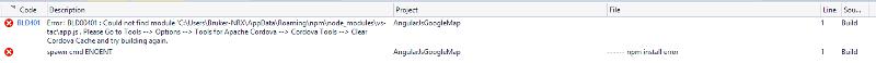 error on build