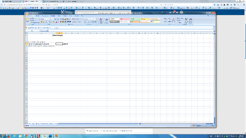 Excel Workbook Cover Sheet
