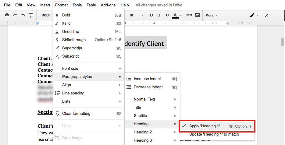 Using the table of contents add on for google docs for Table of contents google docs