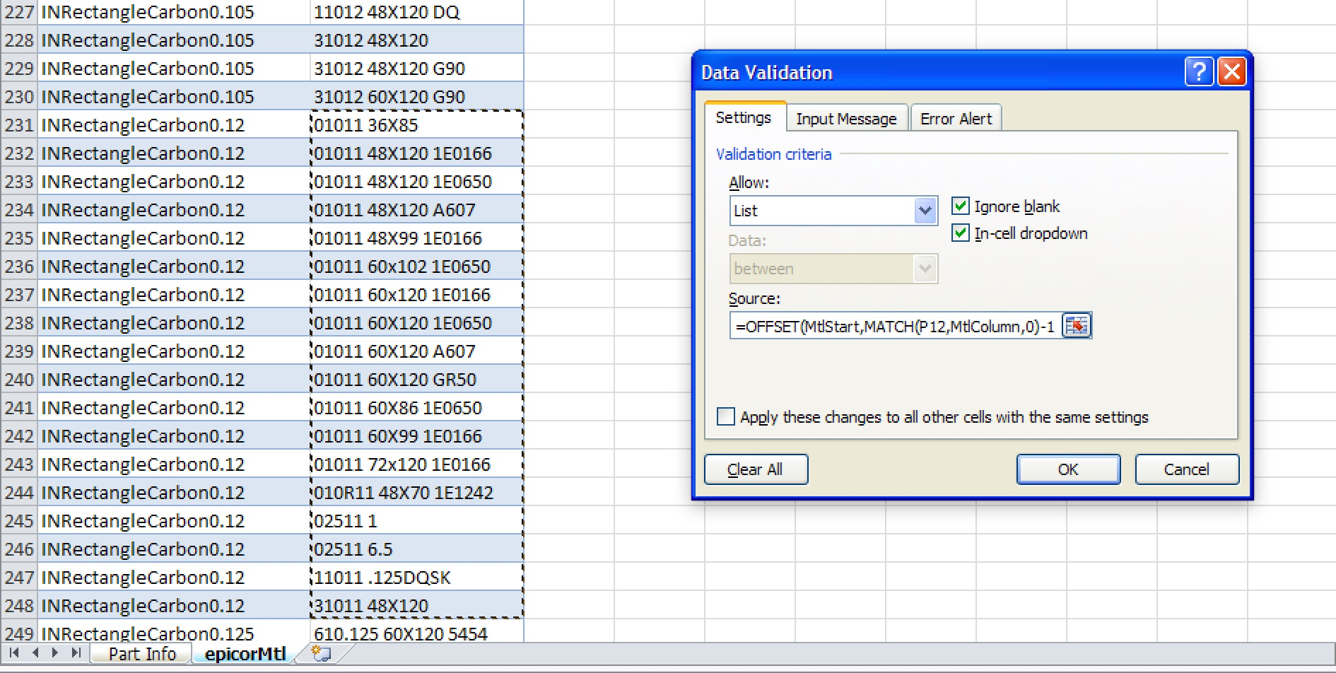 Excel Vba Font Size Of Data Validation List
