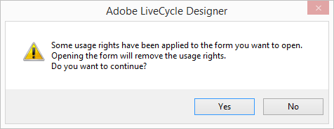 Adobe LiveCycle Usage Rights Error