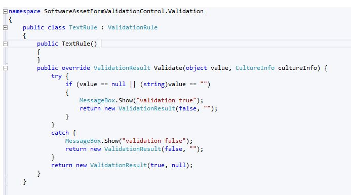 how to test code in a wpf user control library