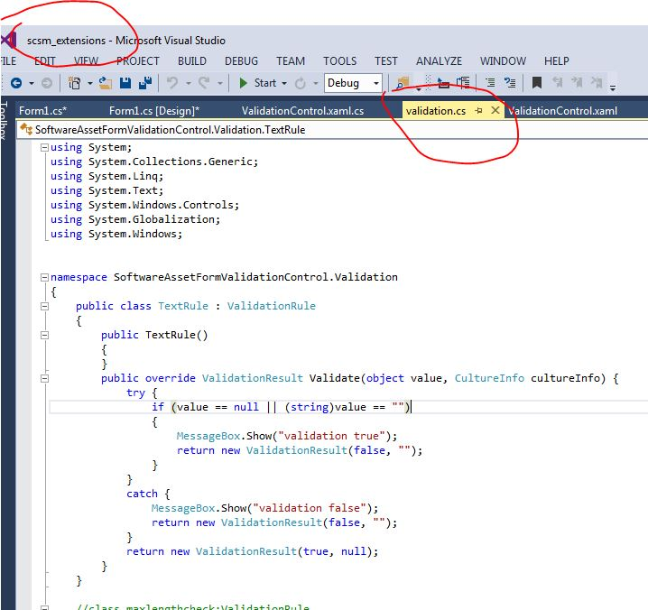 windows form used to test wpf user control that is in the dll i referenced