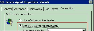 SQLAgent Connection