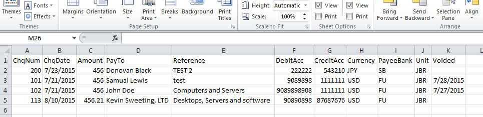 Format not correct when exporting to a CSV file