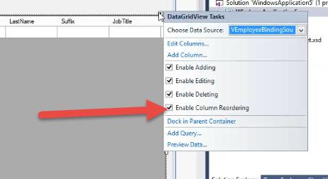 Enable column reordering