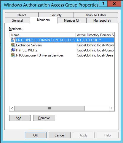 Windows Authorization Access Group