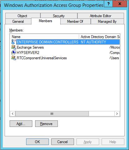 Windows Authorization Access Group-