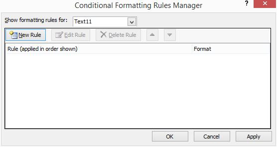 conditional formatting in Access