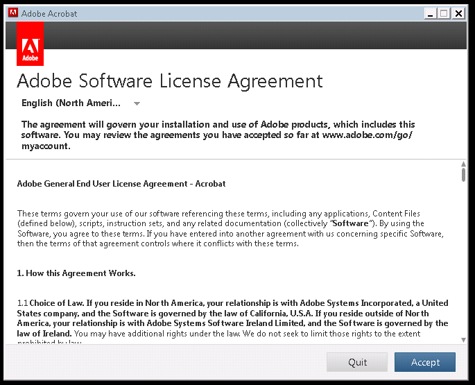 Adobe Software License Agreement Wont Go Away
