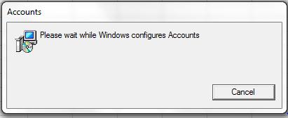 Windows configuring accounts