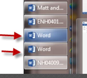 Opened blank WORD file
