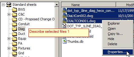 ADC Describe selected files 1