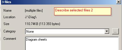 ADC Describe selected files 2