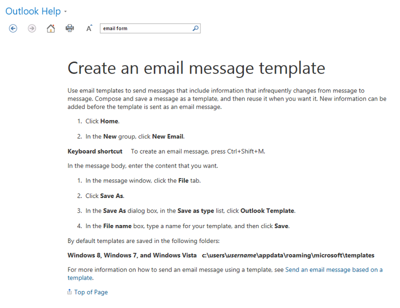 Create Email Template in Outlook 2013.