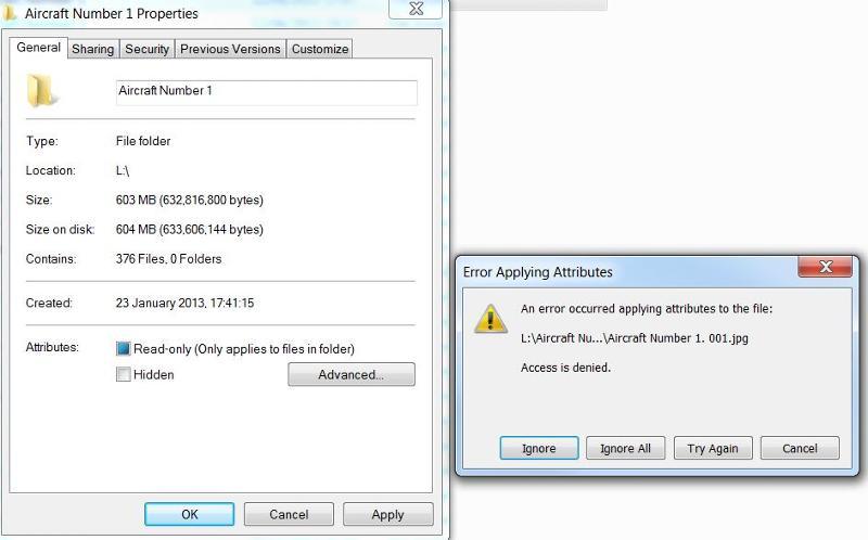Decrypt folder error