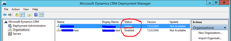Image of test account and main account within Deployment Manager