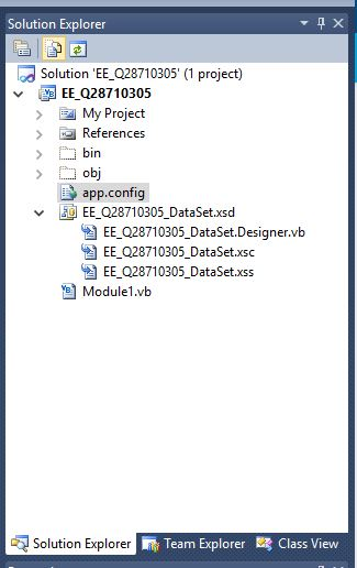 app.config in the Solution Explorer.