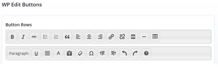 Snapshot image of WordPress toolbar that I want to have -- matches documentation