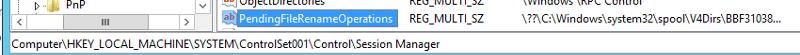 Pending File Rename Operations