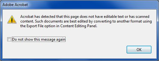 cannot edit PDF image