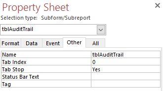 property sheet