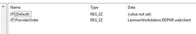 Provider order after script runs.