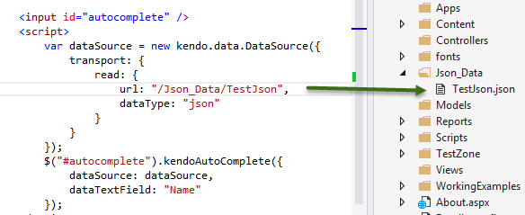 kendo ui autocomplete with json <HELP>