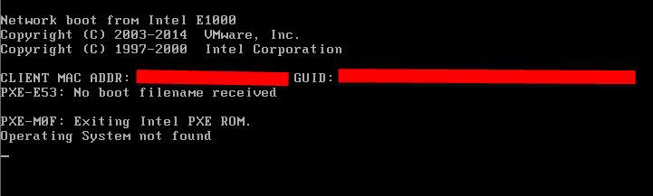 Vmware message