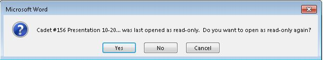 Word 2013 opening in read-only mode