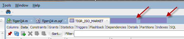 multiple tabs on work section
