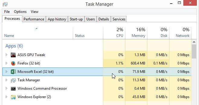 Task Manager - Apps