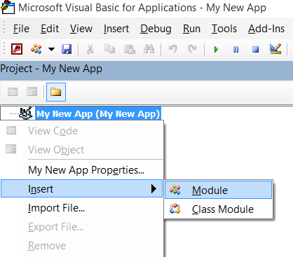 Adding a module
