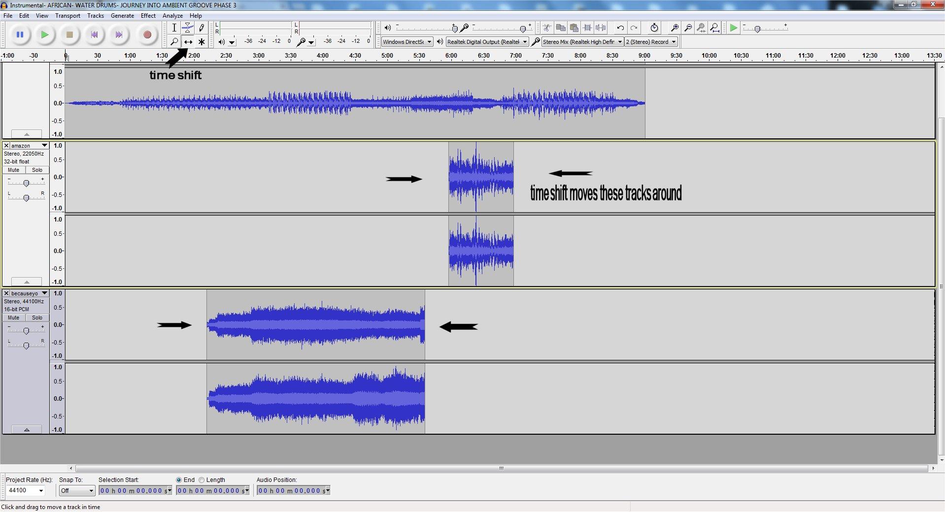 Converting Stereo Audio WAV File Into Multitrack
