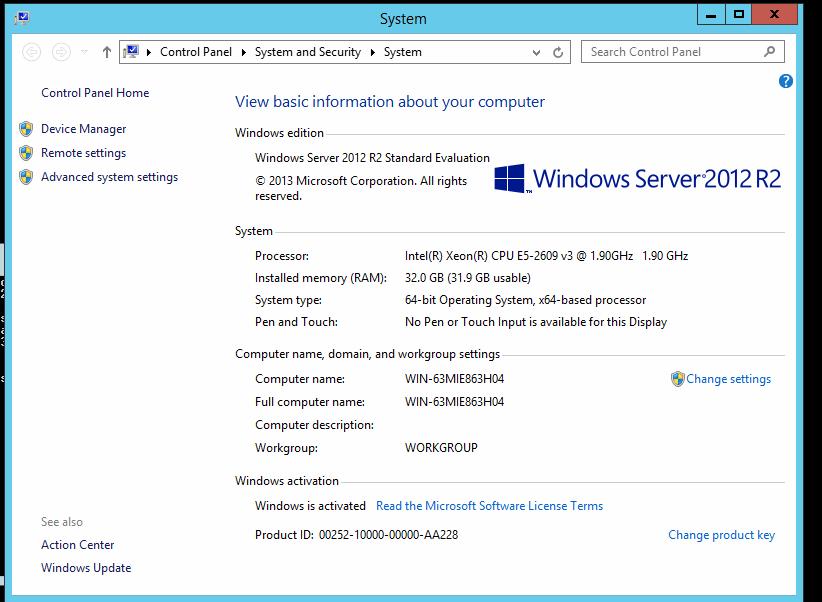 windows server r2 standard product key