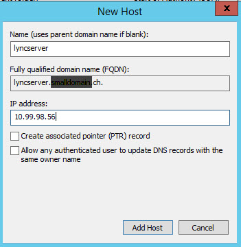 You probably already have a host with an IP address