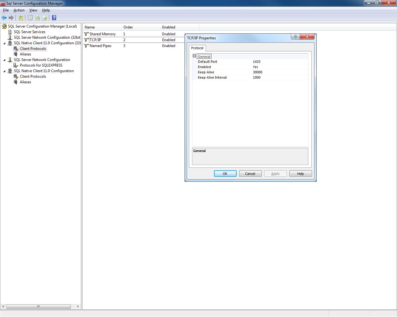 SQLServer Port Not Showing