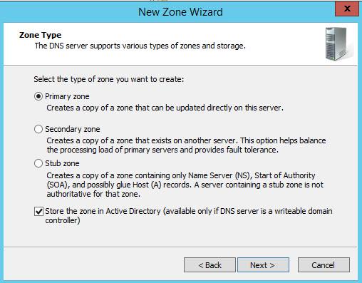 create new zone 1