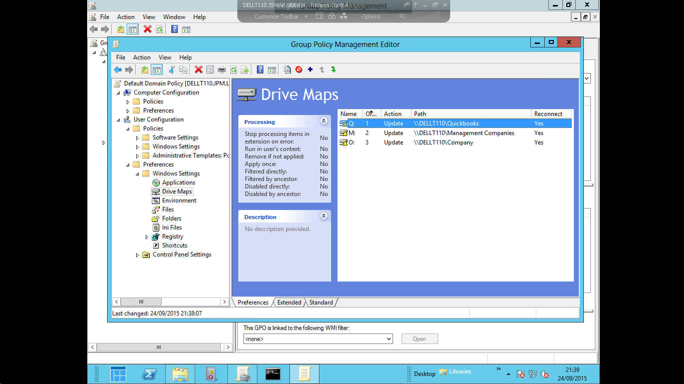 Some drives not mapping by GPO in win 7 clients with Win