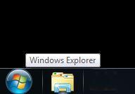 windows explorer folder on taskbar